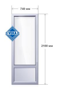 Пластиковая дверь балконная 700х2100 в екатеринбурге. цена т.